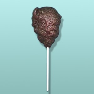 Chocolate Buffalo Head Lolly