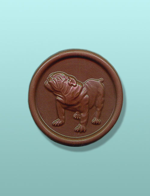 Chocolate Bulldog Full Body Medallion Favor