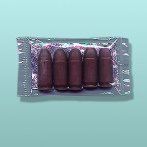 Chocolate Gun Bullets Five Pack