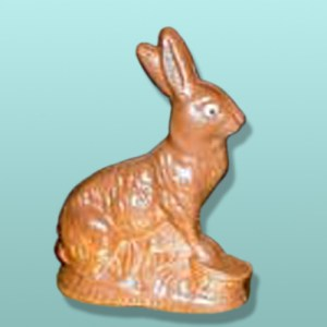 3D Chocolate Bunny on Basket