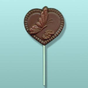 Chocolate Butterfly Heart II Party Favor