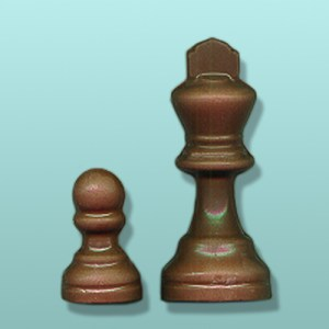 2 pc. Chocolate Chess Piece Party Favor II