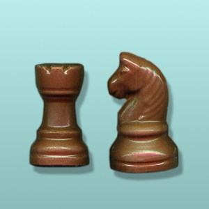 2 pc. Chocolate Chess Piece Party Favor III