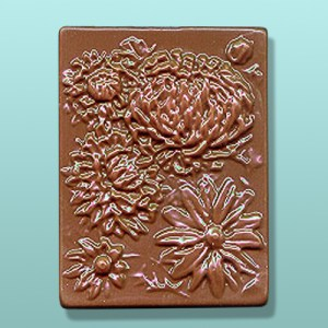 Chrysanthemum Chocolate Plaque