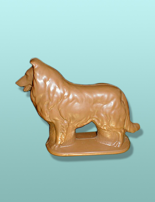 3D Chocolate Collie Dog