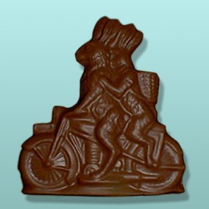 3D Chocolate Cycle Bunnies Flat Plaque