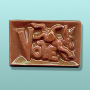 Chocolate Donkey Vote Rectangular Favor