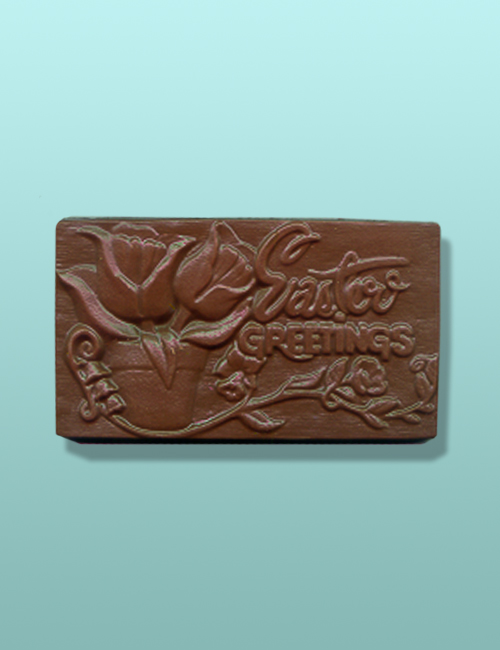 Chocolate Easter Greetings Tulip Plaque