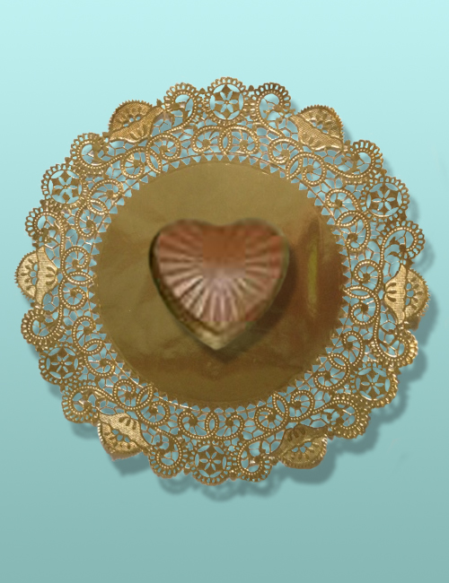 Edible Chocolate Small Faceted Heart Box