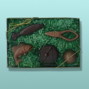 5 pc. Chocolate Fishing Gift Set