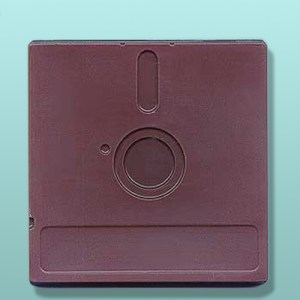 Chocolate Floppy Disk X-Large Favor