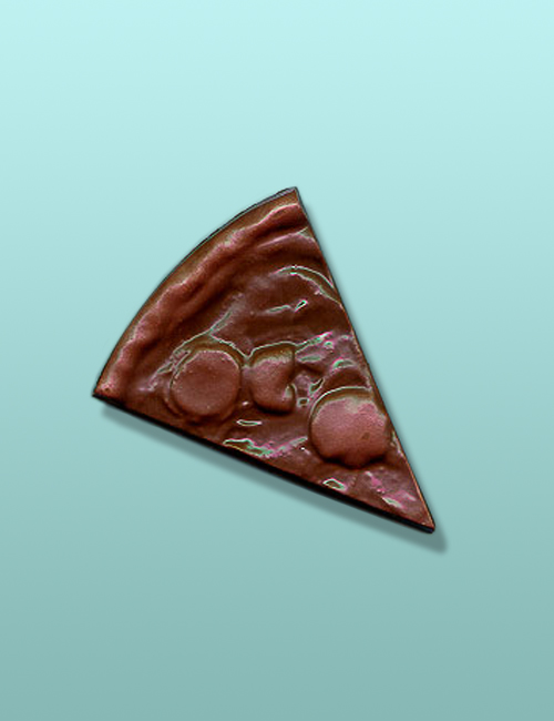 """Chocolate 5"""" Pizza Slice Party Favor"""