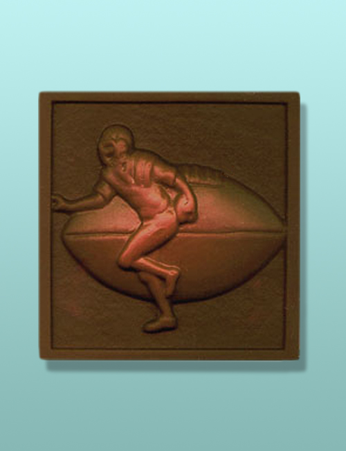 Chocolate Football Square Plaque