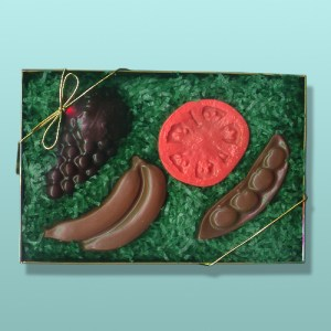 Chocolate Fruit and Veggie Gift Set