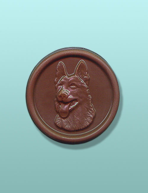 Chocolate German Shepherd Medallion II