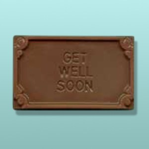 Chocolate Get Well Soon Mini Card