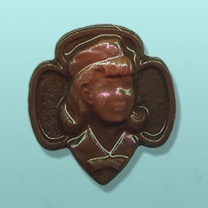 Chocolate Girl Scout Emblem II