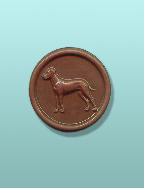 Chocolate Great Dane Medallion Favor