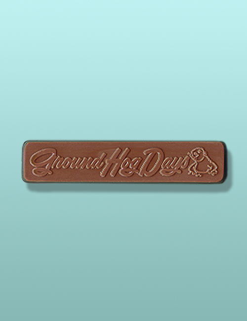 Chocolate Groundhog Day Candy Bar I