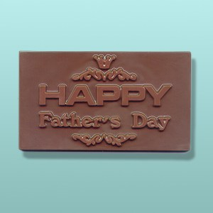 Chocolate Happy Fathers Day Plaque