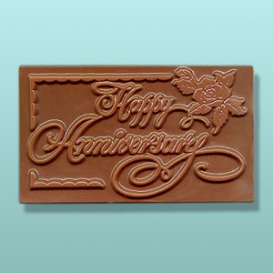 Chocolate Happy Anniversary Plaque