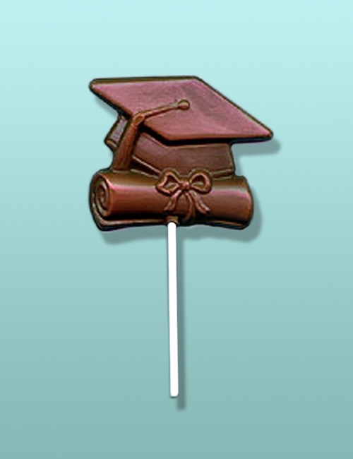 Chocolate Graduation Cap and Scroll Lolly