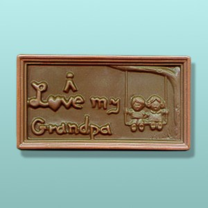 I Love My Grandpa Chocolate Plaque