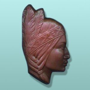 Chocolate Indian Maiden Headdress