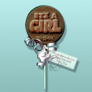 Chocolate It's A Girl Party Favor