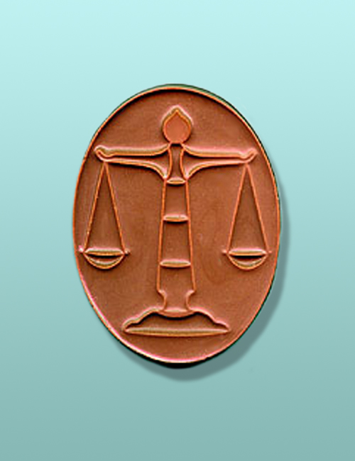 Chocolate Oval Scales of Justice Favor