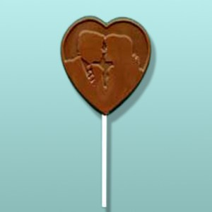 Chocolate Kissing Couple Wedding Favor