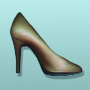 3D Chocolate Ladies High Heeled Shoe