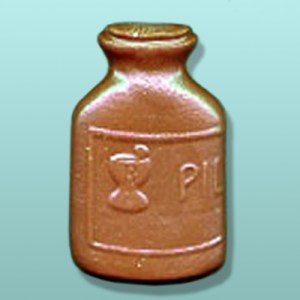 Chocolate Pill Bottle Large Favor