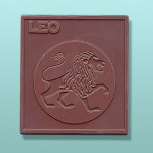 Chocolate Leo Zodiac Plaque