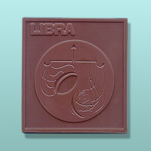 Chocolate Libra Zodiac Plaque