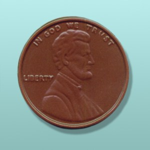 Chocolate Lincoln Penny Party Favor