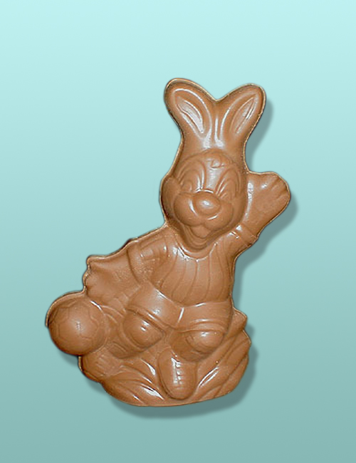 3D Chocolate Large Soccer Bunny