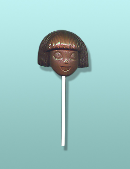 Chocolate Dora Explorer Head Lolly