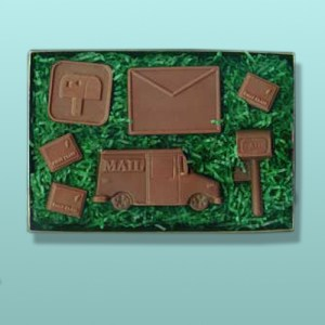 Chocolate Post Office Mail Man Gift Set