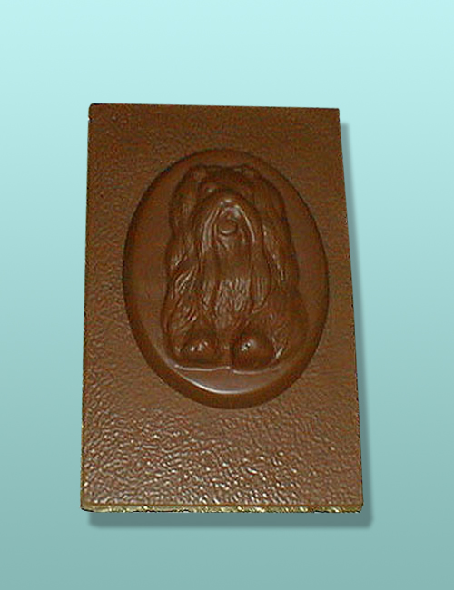Chocolate Maltese Dog Flat Plaque