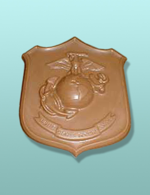 Chocolate Marine Corps Emblem Plaque
