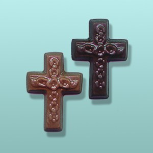 2 pc. Chocolate Floral Cross Mini Favor
