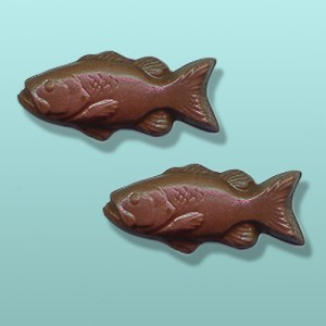 2 pc. Chocolate Bass Fish Mini Favor