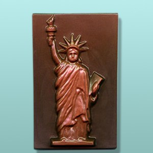 Chocolate Miss Liberty Plaque