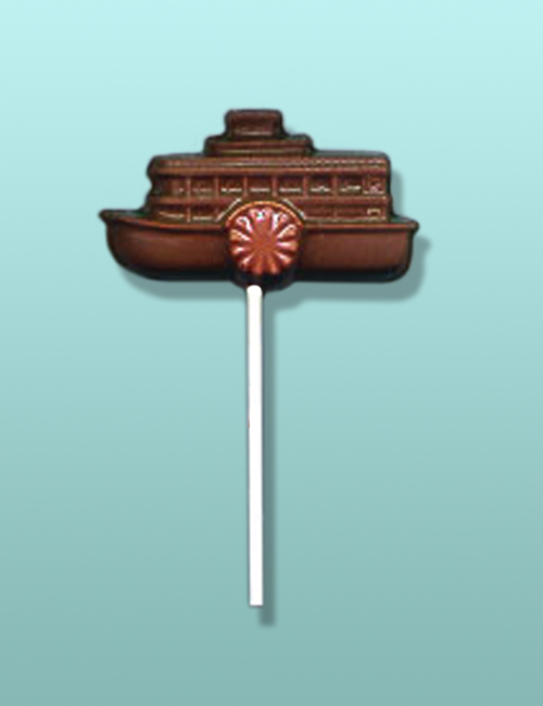 Chocolate Steamboat Paddle Wheel Lolly