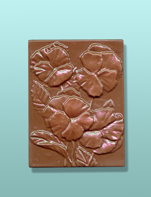 Chocolate Pansy Flower Gift Plaque