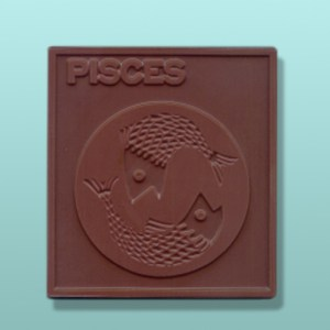 Chocolate Pisces Zodiac Plaque