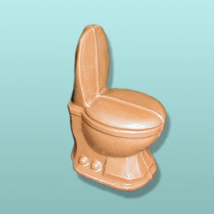 3D Chocolate Toilet Potty Favor
