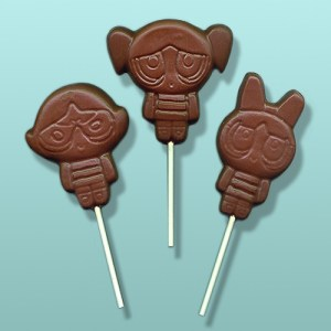 Chocolate Powder Puff Girls Superhero Lolly