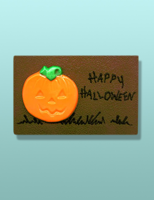 Chocolate Halloween Pumpkin Plaque